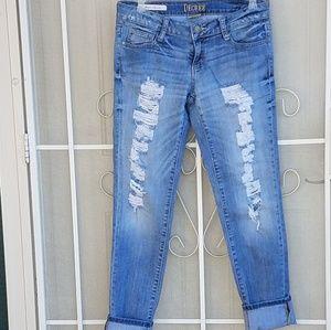 Decree Super Skinny Destroyed Jeans